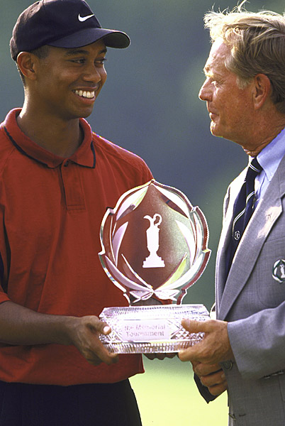 Tiger Woods, 9, 1997 Memorial Tournament, par-3 12th hole, Muirfield Village Golf Club                       Contrary to myth, Tiger Woods didn't win every tournament he entered in the late 90s. He made a 9 at the Memorial in 1997 just six weeks after winning the Masters, according to USA Today. Of course, he later won the tournament four times.