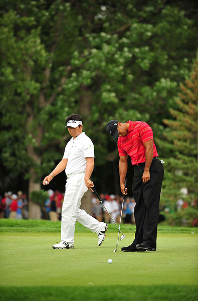 """largely blamed his putter for the loss. """"You have to make putts, and I didn't do that,"""" he said. """"All the other 14 major championships I've won, I've putted well for the entire week. And today was a day that didn't happen."""""""
