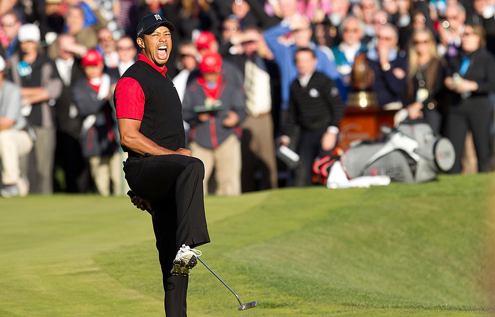 Tiger Woods                       Reason to Celebrate: Woods finished birdie-birdie to win the Chevron World Challenge, his first win in more than two years.