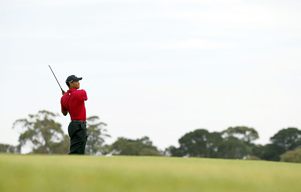 Woods recorded his best finish since winning the 2009 Australian Masters.