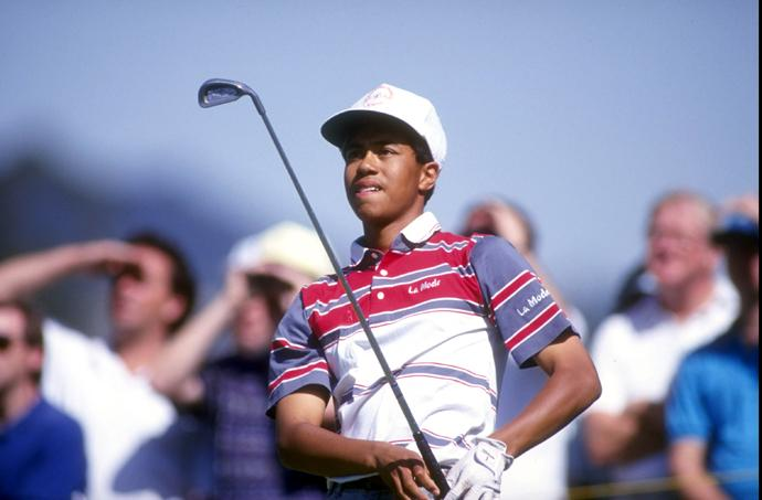 "Check out these photos of Tiger Woods at the 1992 and 1993 L.A. Opens, when golf's coolest cat was still an awkward teenager. There's a reason his nickname used to be ""Urkel."""