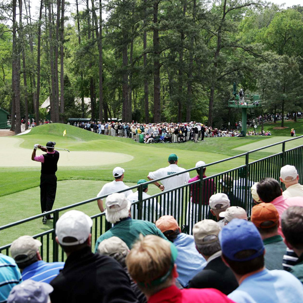 In 1997, Woods won his first Masters by a record 12 strokes.