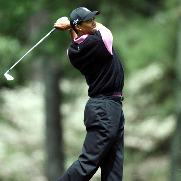 Woods made par on the first six holes Thursday.