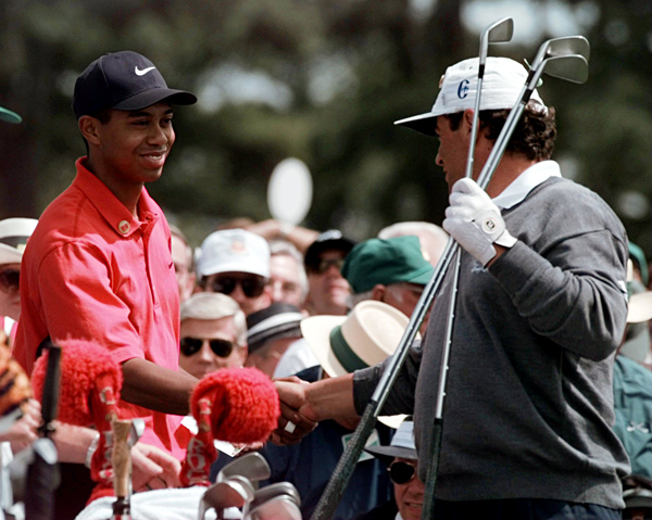 """Tiger's Sunday with...                       If you think playing with defending PGA champion                       Tiger Woods in the final pairing                       of the final round of a major                       is an opportunity Tour players                       relish, well, it just ain't so.                                              Costantino Rocca                       1997 Masters, Augusta National Golf Club                       Started: Nine strokes behind Woods                       Finished: Tied for fifth after a 75                       Woods' score: 69                       Key stat: Woods averaged 323 yards off the tee;                       Rocca, 277. Says the affable Italian, """"We were                       on a different road.""""                       Where it all went wrong: Rocca was never in                       contention, but he still thinks about his missed birdie                       putt at nine. Deflated, he bogeyed 17 and 18.                       Telling comment: """"I like teaching and I have a great                       vision of the swing,"""" Rocca says. """"When I saw him                       swing like that, and when I saw him putt and chip so                       fantastic, I said to myself, 'If this guy keeps this going,                       the world is going to give him all the money!'"""""""