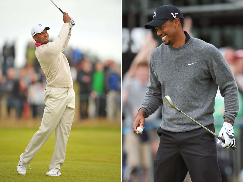 Fail-Safe Mode                       Tiger played conservative golf, almost as if he had the lead, most of the way. He also dressed in his most classic, take-no-chances athletic-style -- all beige in round one; gray and black for round two.