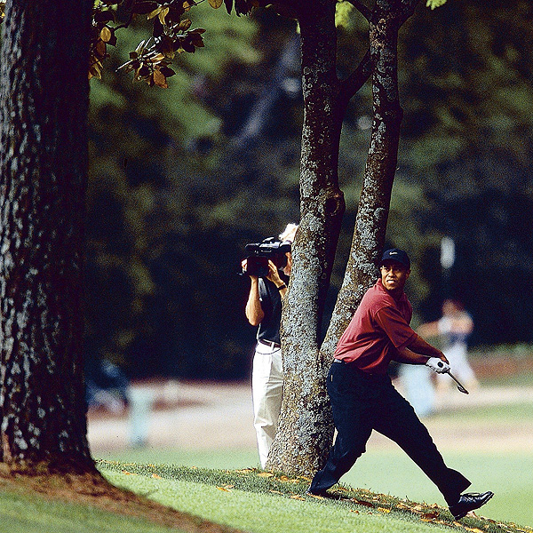 No. 7: 2002 Masters                     Whether he was on the fairway or in the trees at Augusta National, Woods made all the right moves to earn his third green jacket in 2002, winning by three shots over Retief Goosen.