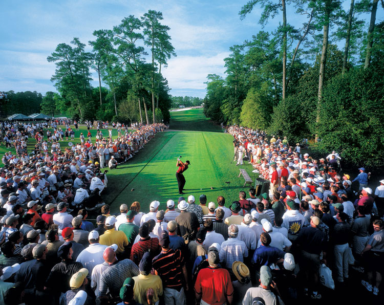"""Woods won his second Masters in 2001. It was his fourth consecutive major victory and it completed the """"Tiger Slam."""""""