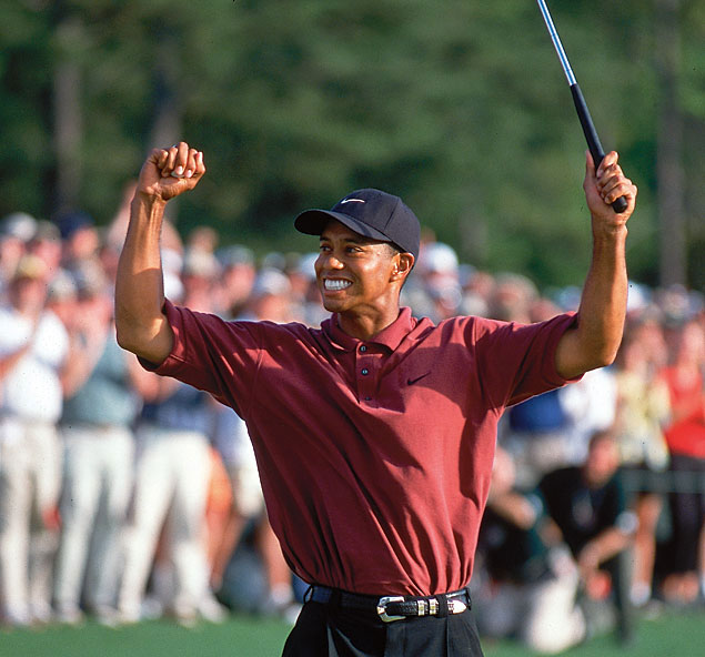 Woods defended his title in 2002, winning his third green jacket by three strokes over Retief Goosen.