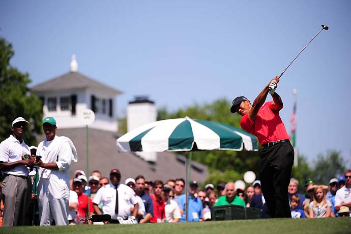 "Tiger Woods a choker? Everyone has their breaking point, Miller says, after Tiger falters at the 2012 Masters. ""He goes to the Masters and really fell apart from pressure. The first time in his whole career I can say that Tiger actually gagged just a little bit because he wanted it so bad. He's going after Nicklaus's record, 18 majors."""