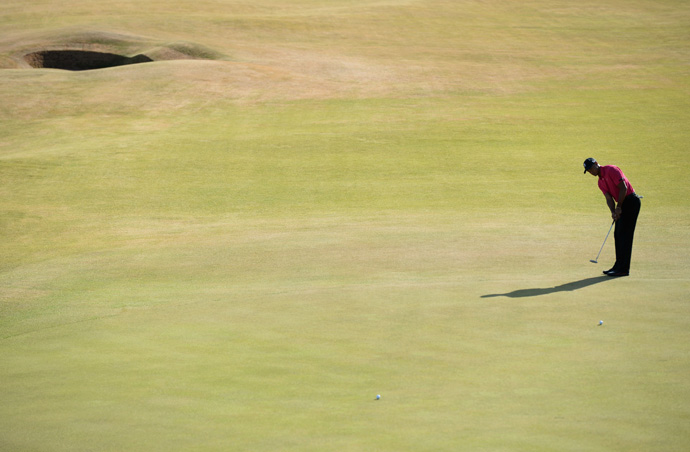 """""""I love this championship,"""" Woods said. """"I just think it's so neat to be able to play [links] golf."""""""