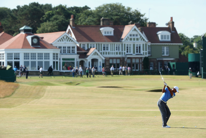 Tiger Woods got in one more practice round Wednesday morning before the start of the 142nd Open Championship.