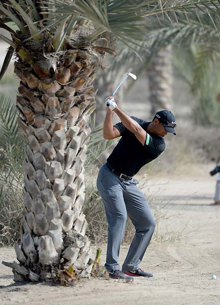 """I was on so many parts of the golf course today that I got to meet so many people.""                       --Tiger Woods after a poor driving day in the second round of the Dubai Desert Classic."