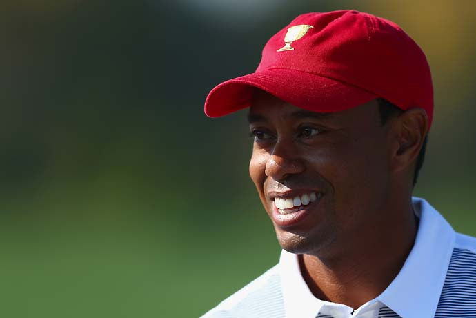 """Chased a four‑ and a six‑year‑old. That's what I did. I didn't touch a club until Friday.""                       --Tiger Woods on how he spent his off-week after the Tour Championship."