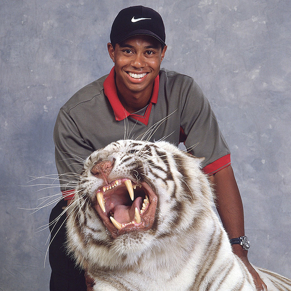 This photo of Woods was taken for a cover of Sports Illustrated in 1998.