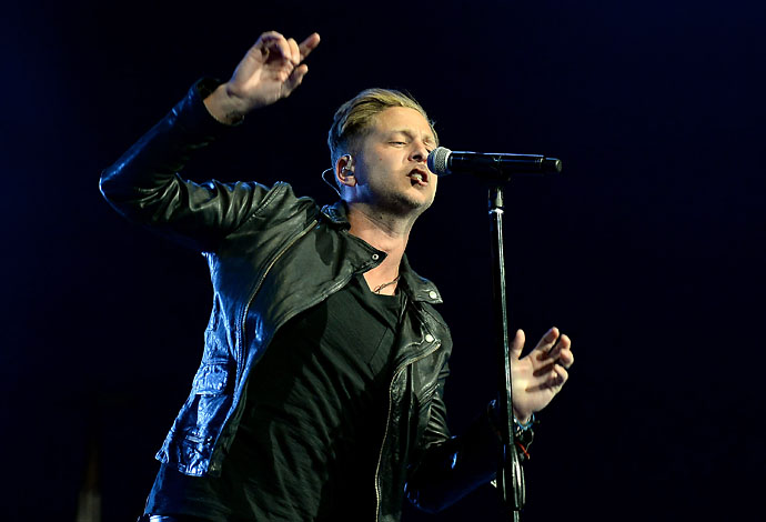 Ryan Tedder of OneRepublic performs during Tiger Jam 14. The band cites U2 and the Beatles as influences.