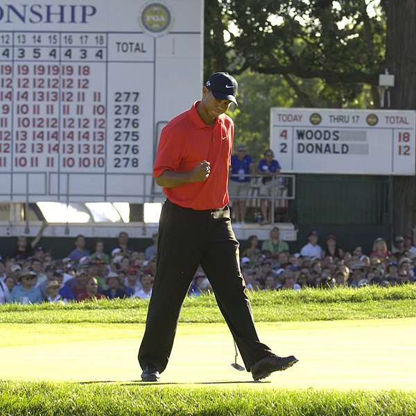 2006                                              Holing key putts early and often on Sunday helped Woods keep the rest of the field at bay.