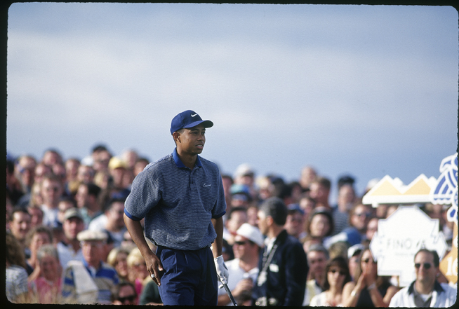 With a 9-iron in hand, Tiger was ready to go.