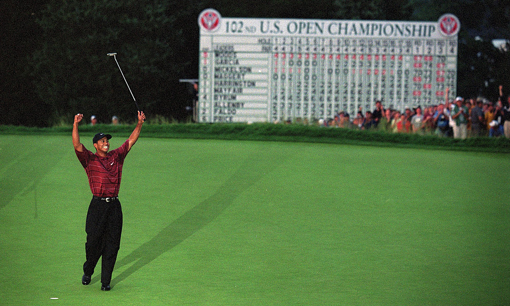 The 2002 U.S. Open was held at Bethpage Black, making it the first municipal course to hold a U.S. Open. On one of the toughest courses Tour players had ever faced, Woods held off Phil Mickelson to win by three shots.