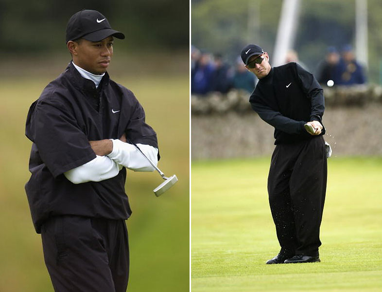 Both Woods and David Duval, another British Open winner, wear Nike clothes, which emphasize performance over traditional fashion. It's a more minimal look.