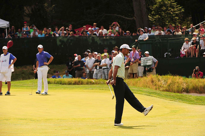 Woods matched his worst score ever in a U.S. Open.
