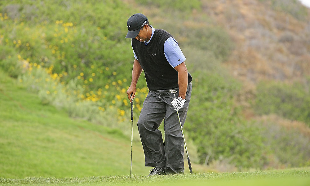 It was revealed after the tournament that Tiger played with a broken leg and torn ligaments in his knee.
