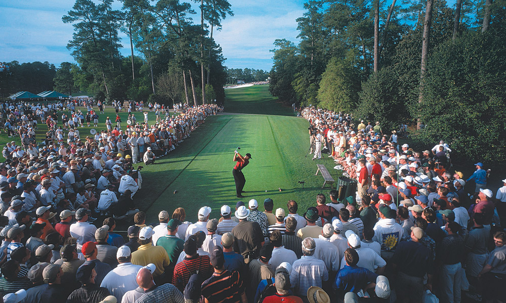 "Tiger Woods won the 2001 Masters with two of his main rivals in hot pursuit. He beat David Duval by two shots and Phil Mickelson by three. With the win, Woods held all four major titles at the same time -- a feat that has come to be known as the ""Tiger Slam."""