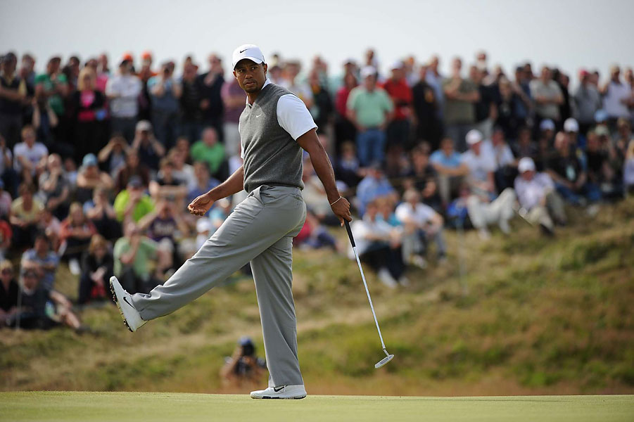 Woods made three birdies on Saturday.