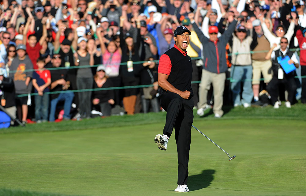 Two years after his car accident and the ensuing scandal, Woods won the Chevron World Challenge in December 2011 with a birdie-birdie finish. It was his first professional win since November 2009.