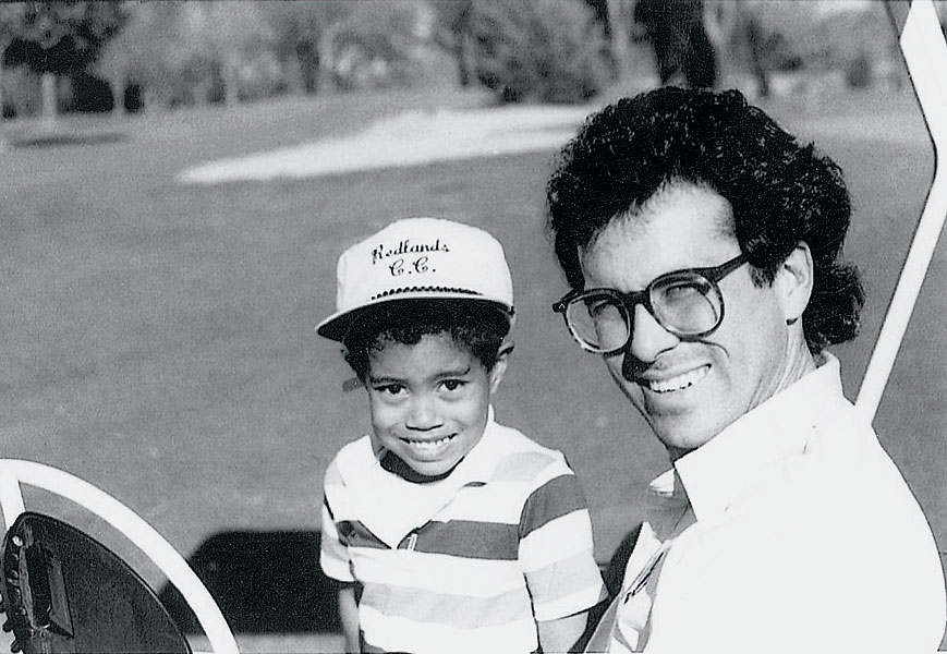 Tiger Woods with Rudy Duran, his childhood coach.
