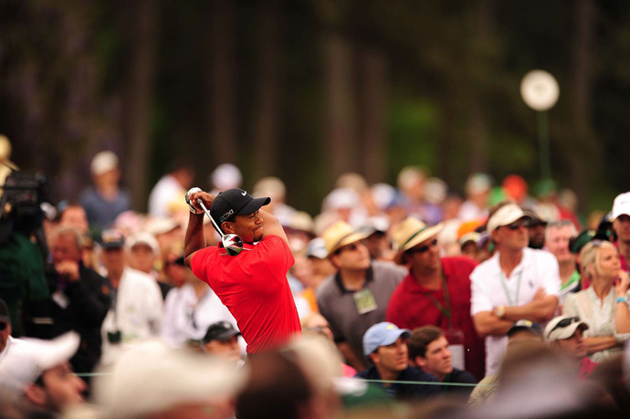 Tiger Woods shot a two-under 70 to finish tied for fourth.