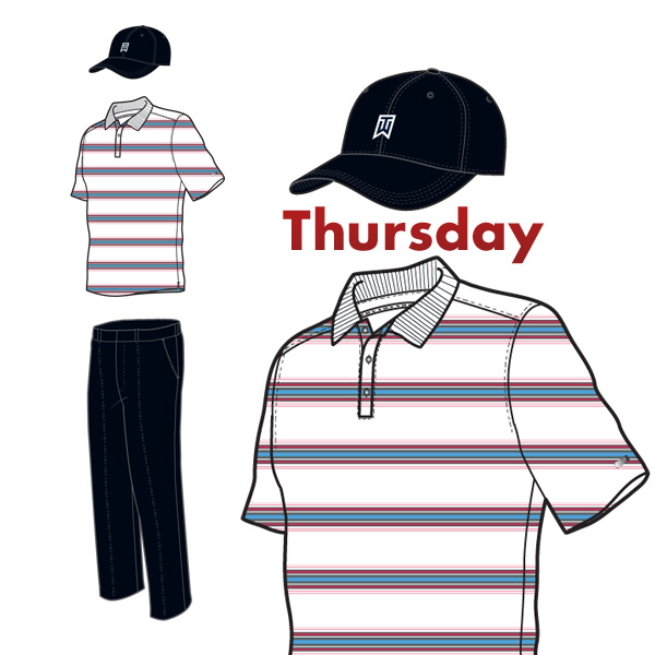 Thursday's scripted outfit.