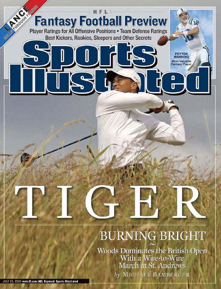 July 25, 2005                     Woods wins his second British Open at St. Andrews.                                           Read the story.