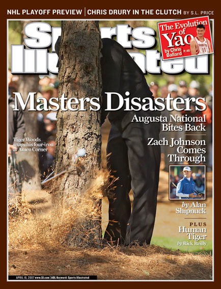 April 16, 2007                       Woods finishes second to Zach Johnson at the Masters.                                               Read the story.