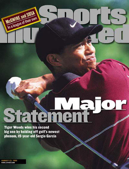 August 23, 1999                       Woods wins the PGA Championship for his second major.                                               Read the story.