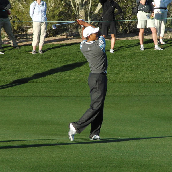 Tiger's balance is fantastic. His swing is noticeably more controlled and smooth, a natural consequence when returning from an injury. The slight roll of his left foot in the finish would be worse if he had't flared the foot at address. His golf swing continues to mature, a scary thought considering he is just reaching the prime of his career.                                          More From GOLF.com                     • More swing sequences                     • Tiger Woods Homepage                     • Tiger Woods: A Life in Pictures                     • Charlie Axel and Sam Alexis Baby Pictures