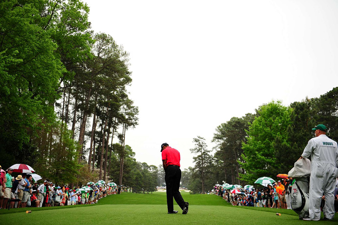 Woods had trouble finding the fairway in the final round.