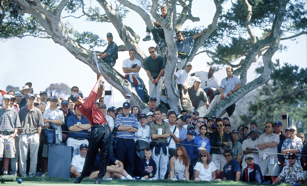 He won his first U.S. Open in 2000 at Pebble Beach with the most dominant performance in major championship history.