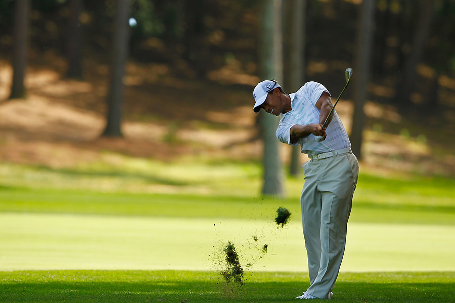 Woods recovered on the back, making two birdies and no bogeys for a final score of 71.