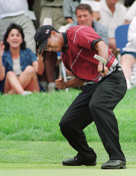 The World Golf Championship series began in 1999, and Tiger Woods didn't waste any time winning his first WGC title. Woods shot a final-round 71 to beat Phil Mickelson by one stroke at the NEC Invitational at Firestone.