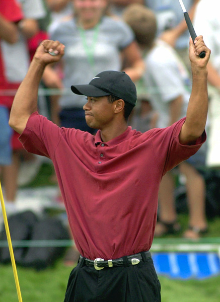 By 2001 it was becoming apparent Firestone was turning into Woods' playground as he scored a three-peat at the Bridgestone Invitational.