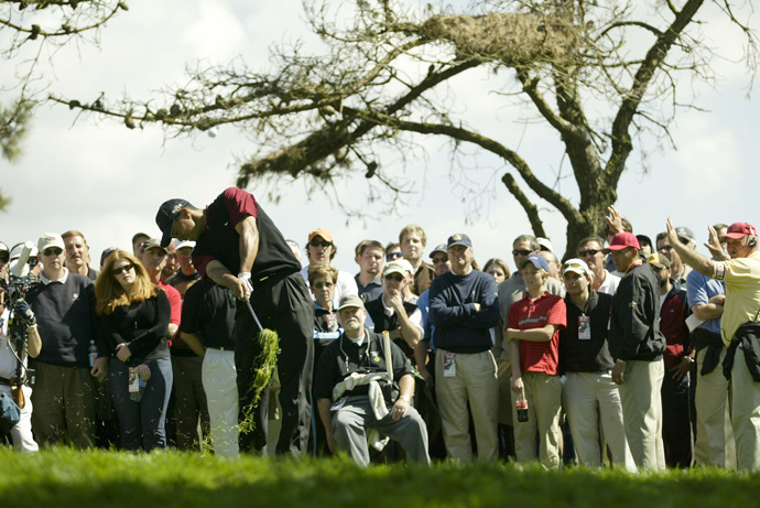 Woods defended his Match Play title in 2004, defeating Davis Love III, 3 and 2, in the 36-hole final.