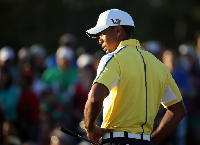 """I've been chipping and putting at home. That's it. I haven't done that much. Just listening to my doctors, listening to my therapists.""                       --Tiger Woods on how much he's been practicing since he withdrew from the Arnold Palmer Invitational with back spasms."