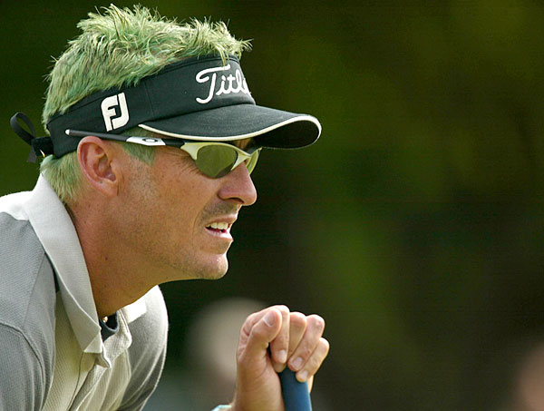 Tommy Tolles dyed his hair green at the 2004 Buick Classic.