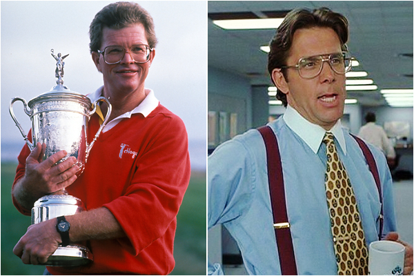 Tom Kite and Bill Lumbergh from Office Space
