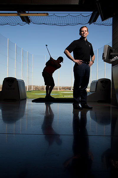 At Tom Leverton's newest driving range outside of Dallas, computers, balls and targets all work together to tell you exactly how far you hit the ball, how close to the targets you hit it, and how many points you've earned with each shot using lightweight radio frequency identification chips embedded in the balls' cores.