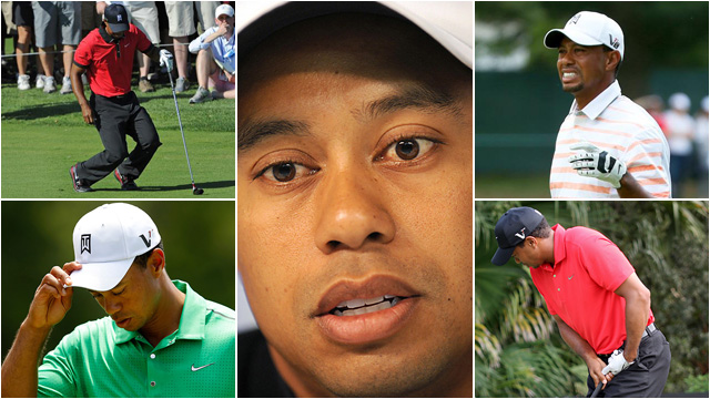 Tiger has missed the cut or withdrawn due to injury 15 times since he turned professional in 1996, though more than half of those have come since 2008. Is Tiger's body breaking down? Check out the recent evidence and decide for yourself. (The Associated Press contributed research to this gallery.)