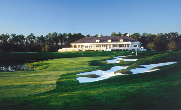 The clubhouse at TPC Myrtle Beach in Myrtle Beach, South Carolina.