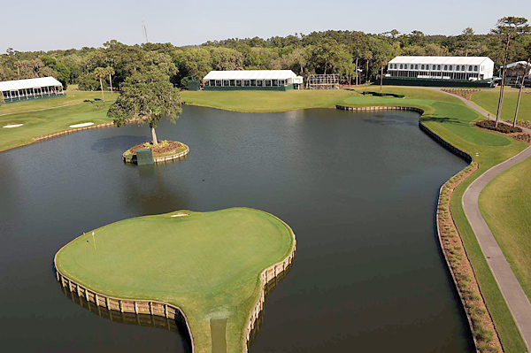 No. 9: TPC Sawgrass (Players Stadium); Ponte Vedra Beach, Fla.                       Designer: Pete Dye