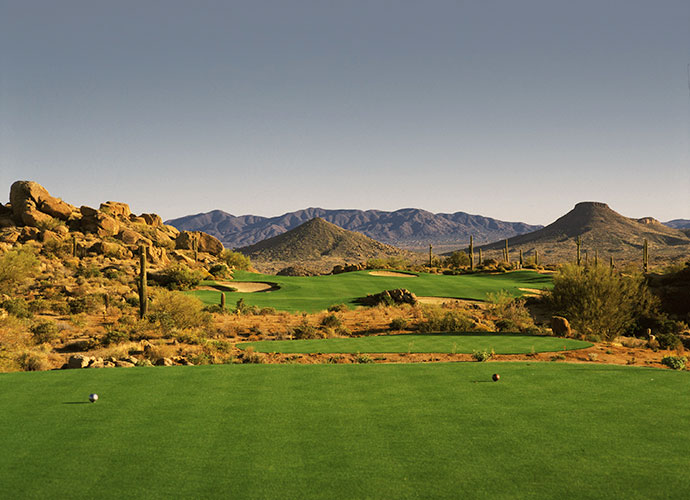 54. Troon North Golf Club (Monument) Scottsdale, Ariz.; Tom Weiskopf/Jay Morrish (1991) -- $39-$259, troonnorthgolf.com