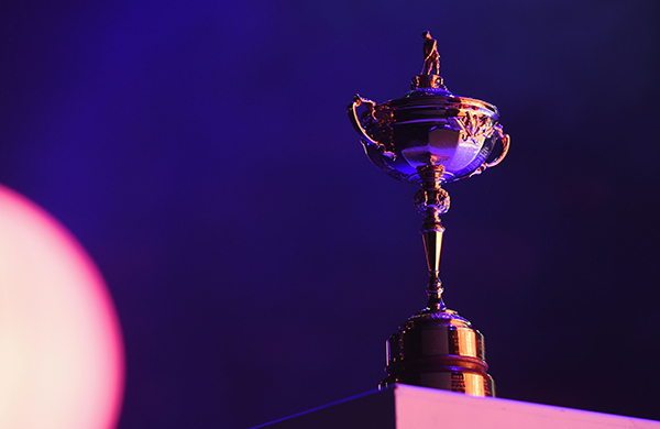 The Ryder Cup trophy on display during the 2014 Ryder Cup Gala Concert at the SSE Hydro.